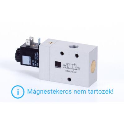 """3/2-es elektromos vezérlésű szelep, monostabil - alaph.nyitott - G1/4"""""""