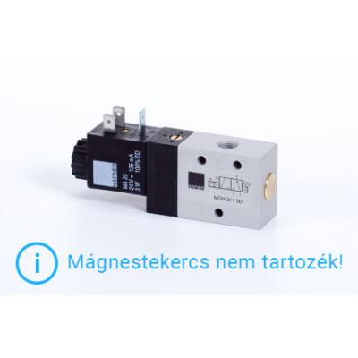"""3/2-es elektromos vezérlésű szelep, monostabil - alaph.nyitott - G1/8"""""""