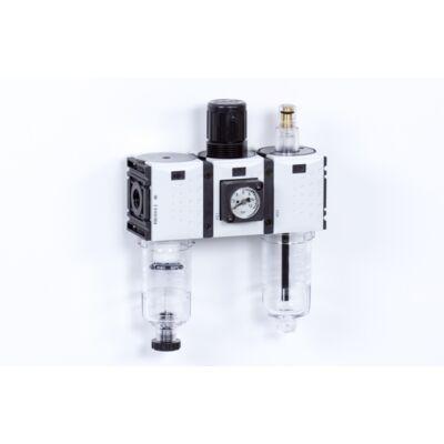 Levegő-előkészítő egység - 8 bar - 5 mikron + Manométer (FS-0)