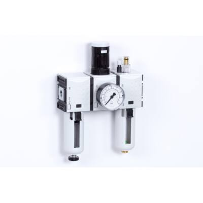 Levegő-előkészítő egység - 8 bar - 5 mikron + Manométer (FS-1)