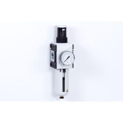 Szűrő-szabályzó egység - 8 bar - 5 mikron + Manométer (FS-4)