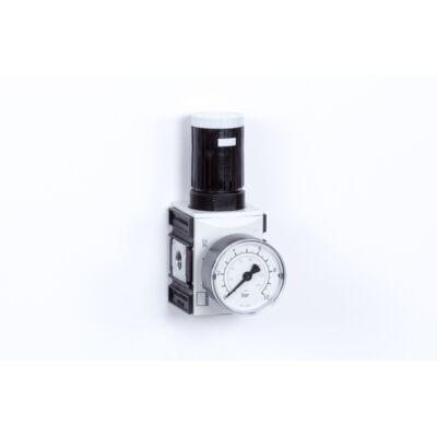 Nyomásszabályzó egység - 8 bar + Manométer (FS-1)
