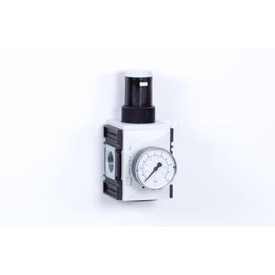 Nyomásszabályzó egység - 8 bar + Manométer (FS-4)